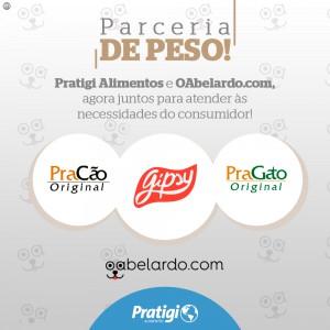 Parceria Pratigi Alimentos e oabelardo.com
